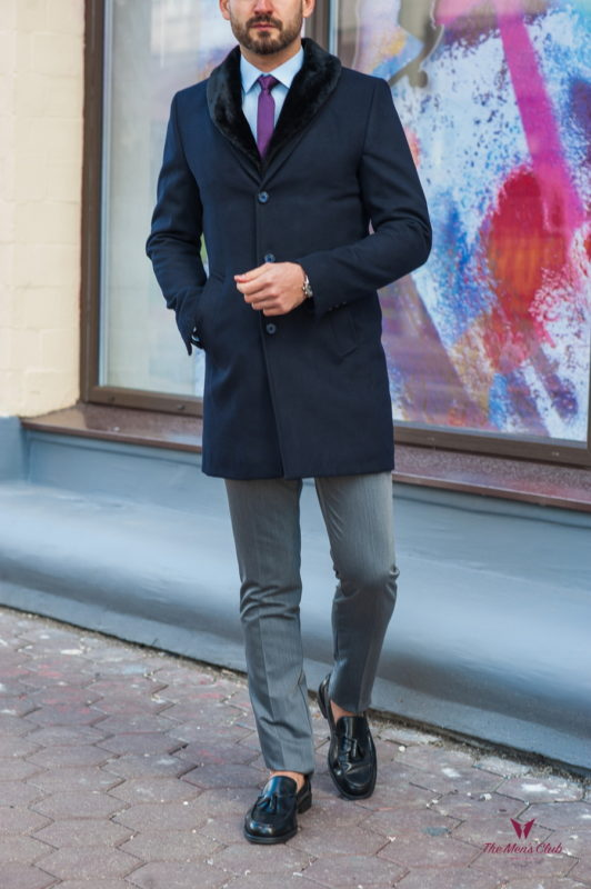 Мужское зимнее пальто из кашемира. Арт.:1-317-10