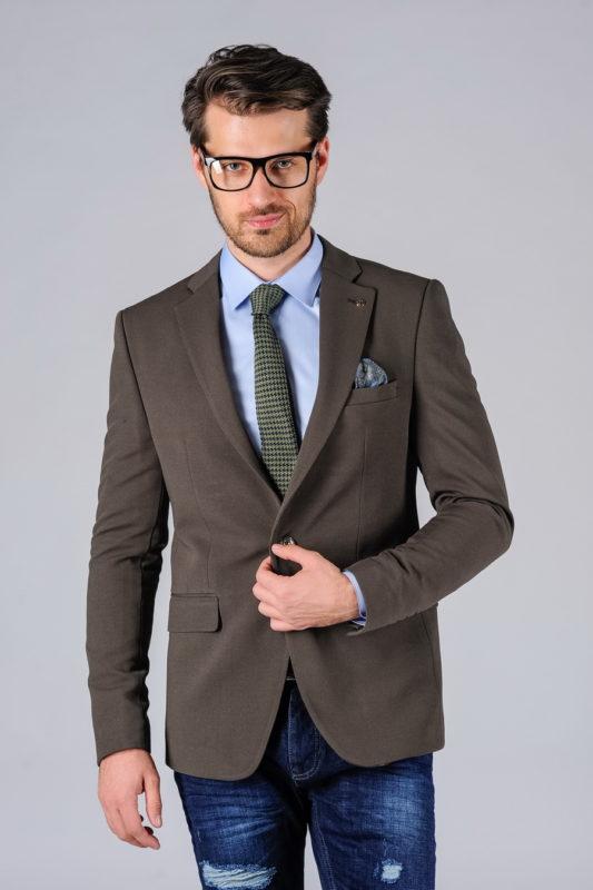 Коричневый повседневный пиджак. Арт.:2-106-2