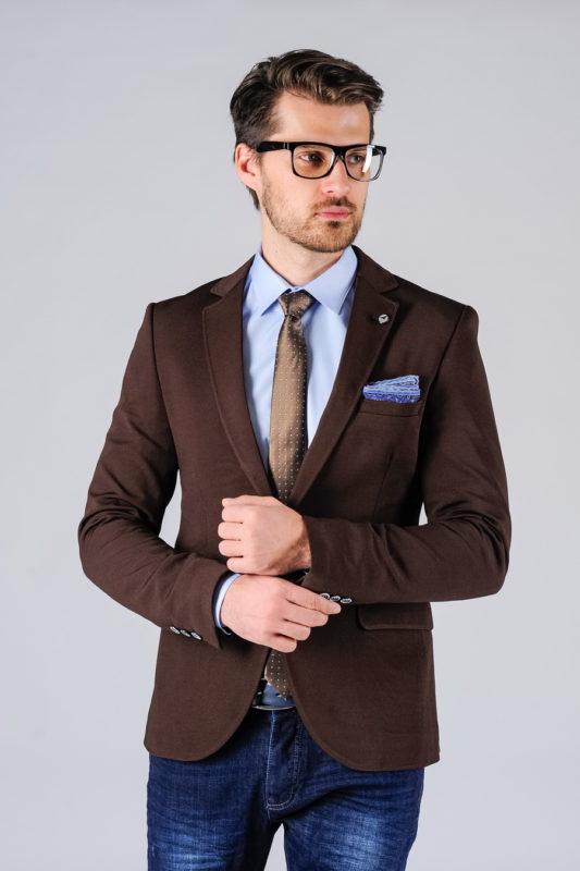 Мужской блейзер коричневого цвета. Арт.:2-121-4