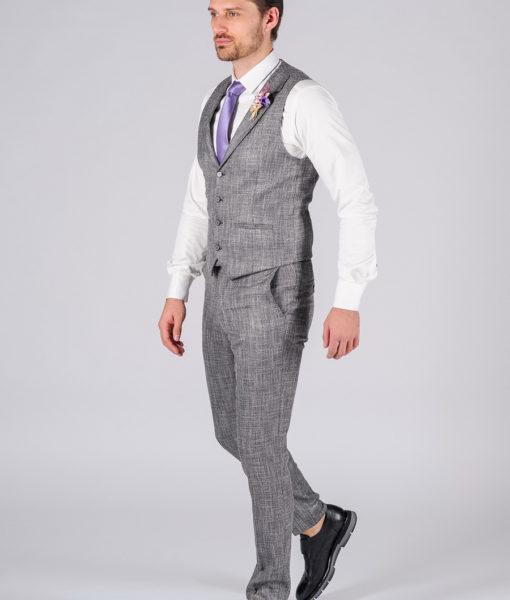 Костюм-двойка серого цвета (жилет и брюки) S-113OW