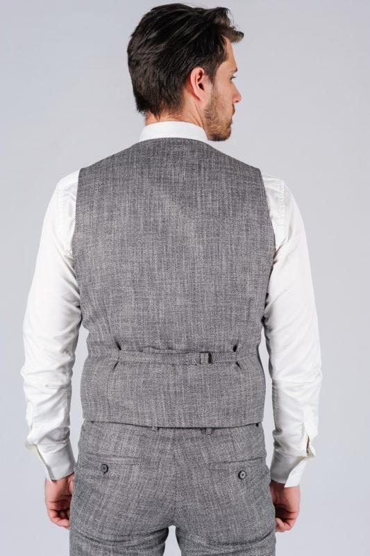 Костюм двойка серого цвета (жилет и брюки). Арт.:4-113-5
