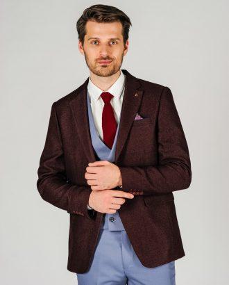 Приталенный мужской пиджак фиолетового оттенка. Арт.:2-15-2