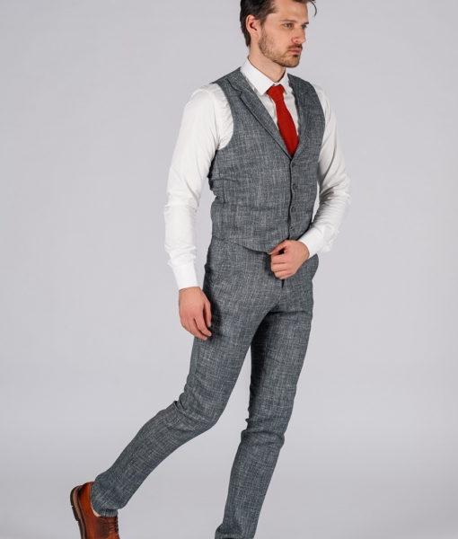 Серая двойка (жилет и брюки). Арт.:4-116-5