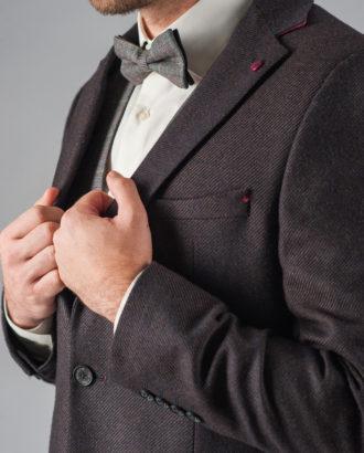 Темно-коричневый мужской пиджак J-306SM