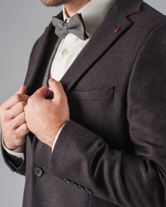 Темно-коричневый мужской пиджак. Арт.:2-306-3