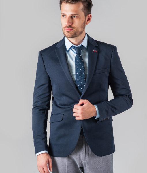 Темно-синий приталенный пиджак. Арт.:2-311-1