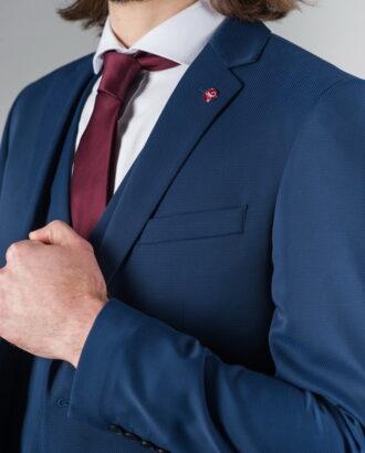 Костюм-тройка благородного синего цвета. Арт.:4-205-1