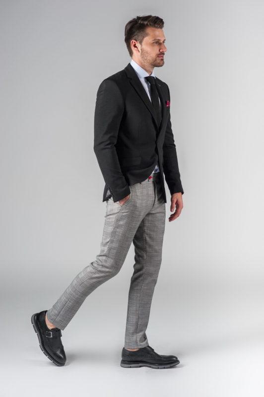 Черный мужской пиджак в стиле кэжуал. Арт.:2-216-1