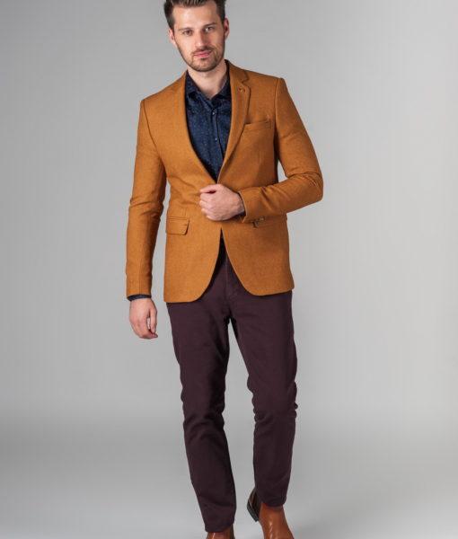 Стильный пиджак горчичного цвета. Арт.:2-232-2