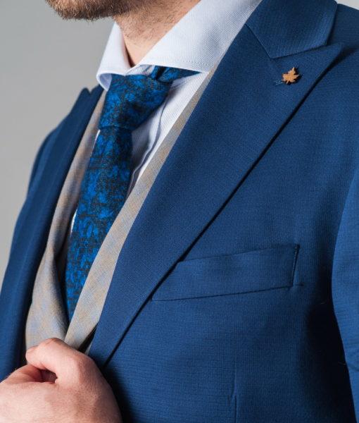 Костюм насыщенного синего цвета. Арт.:4-234-8