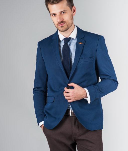 Укороченный мужской пиджак синего цвета J-236FR