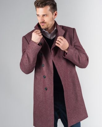 Демисезонное пальто с асимметричным бортом. Арт.:1-237-2