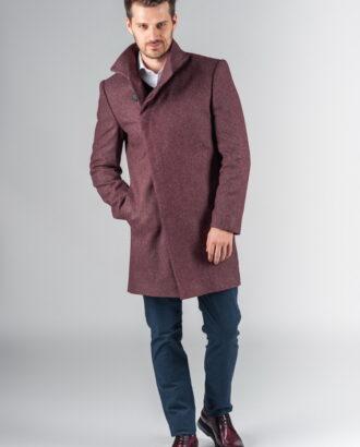 Демисезонное пальто с асимметричным бортом