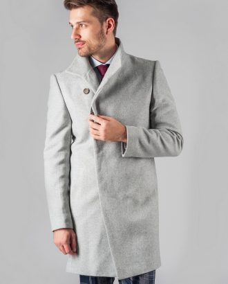 Демисезонное пальто светло-серого цвета. Арт.:1-313-2