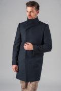 Демисезонное приталенное пальто с ассиметричным бортом_5