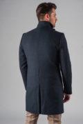 Демисезонное приталенное пальто с ассиметричным бортом_7