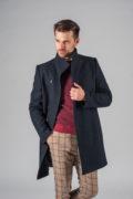 Демисезонное приталенное пальто с ассиметричным бортом_8
