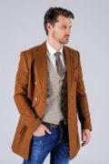 Двубортное пальто цвета camel_01