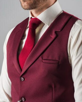 Классический мужской жилет цвета бордо. Арт.:3-314-1