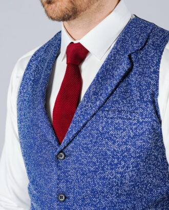 Мужская жилетка под джинсы синего цвета. Арт.:3-102-1