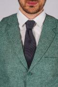 Фактурный жилет зеленого цвета_7