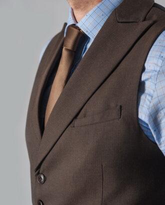 Мужской жилет коричневого цвета. Арт.:3-308-3