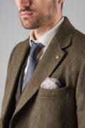 Приталенное пальто из фактурной ткани_10