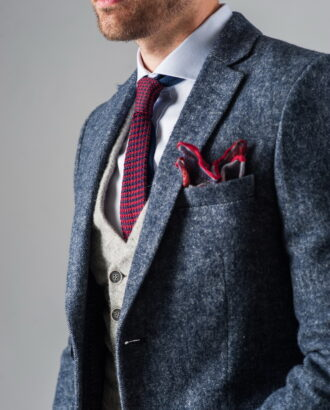 Приталенное пальто из фактурной ткани. Арт.:1-312-3