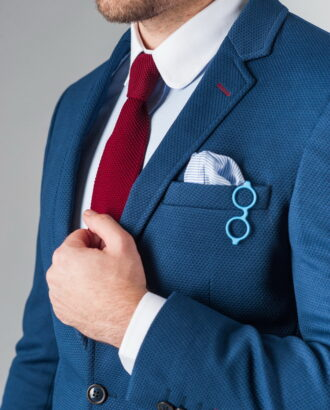Повседневный мужской пиджак синего цвета. Арт.:2-223-2