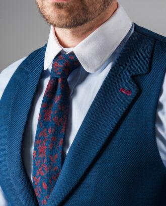 Синий жилет под рубашку. Арт.:3-316-5