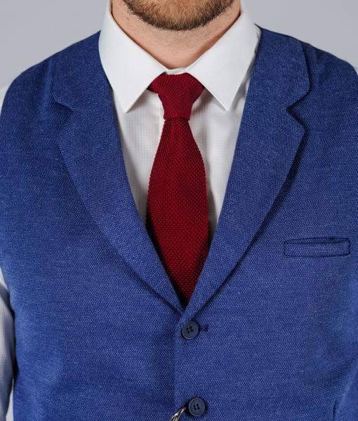 Синий жилет с лацканами. Арт.:3-105-1