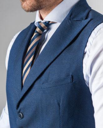 Синяя мужская жилетка под рубашку V-226SM.l