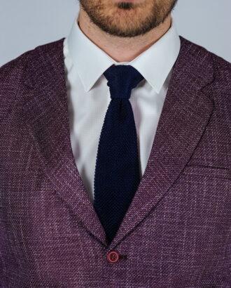 Фиолетовый однобортный жилет. Арт.:3-118-1