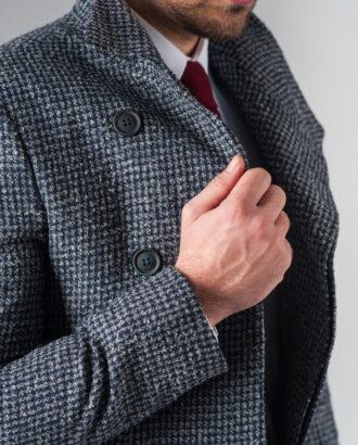 Пальто с асимметричным бортом. Арт.:1-224-2