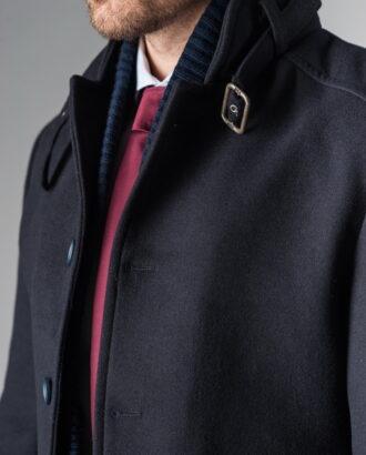 Пальто super slim чернильного цвета