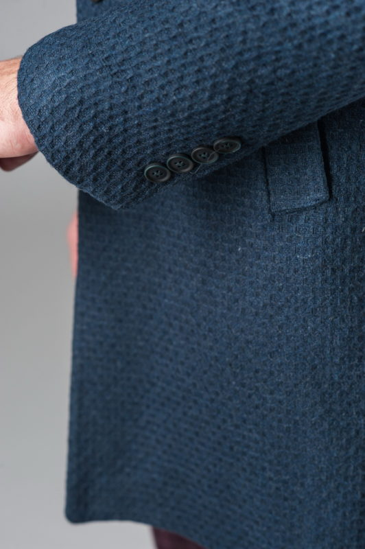 Мужское демисезонное пальто синего цвета. Арт.:1-206-2