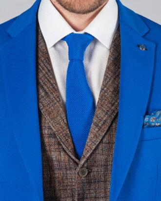 Мужской пиджак насыщенного синего цвета J-016FR