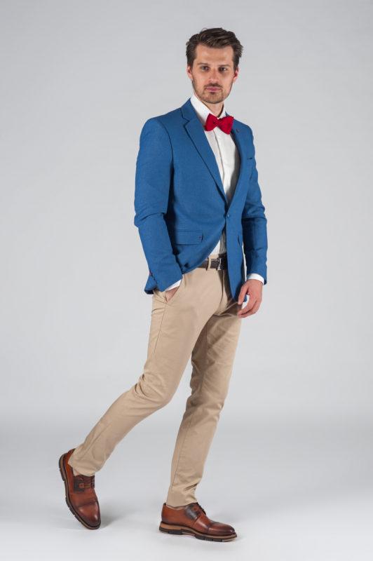 Стильный светло-синий мужской пиджак Арт.:2-017-2