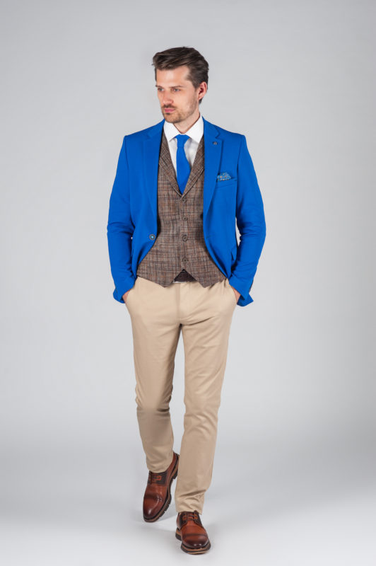 Мужской пиджак насыщенного синего цвета. Арт.:2-016-2