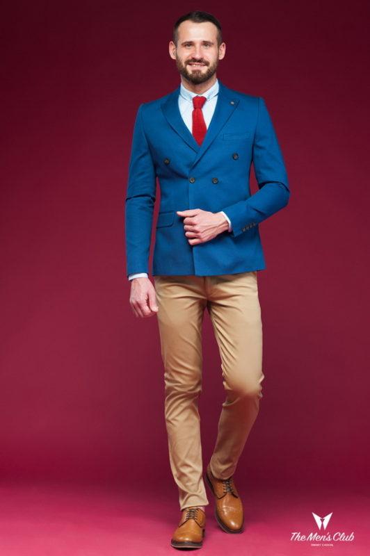 Двубортный пиджак синего цвета. Арт.:2-449-3