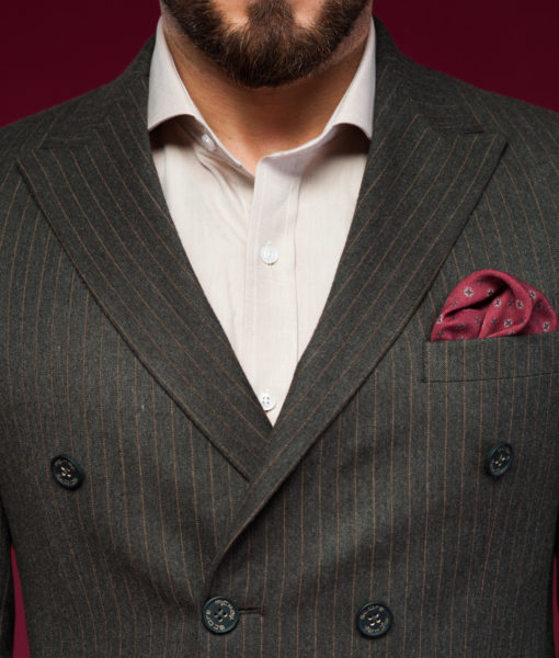Двубортный пиджак в полоску. Арт.:2-450-3