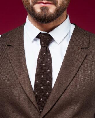 Двойка коричневого цвета (жилет и брюки) S-453OW
