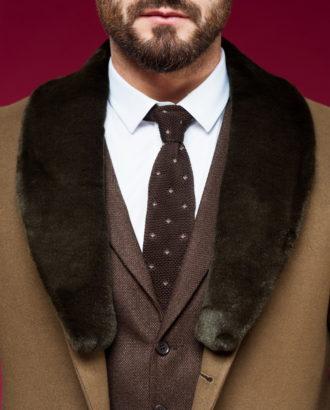 Утепленное пальто из кашемира