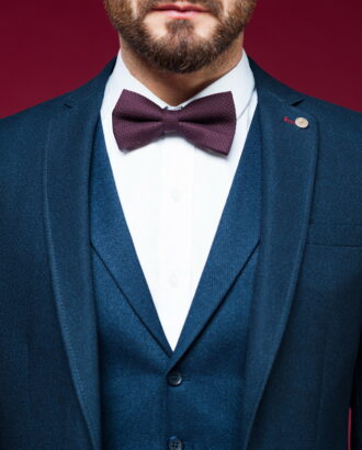 Мужской приталенный пиджак синего цвета J-455OW