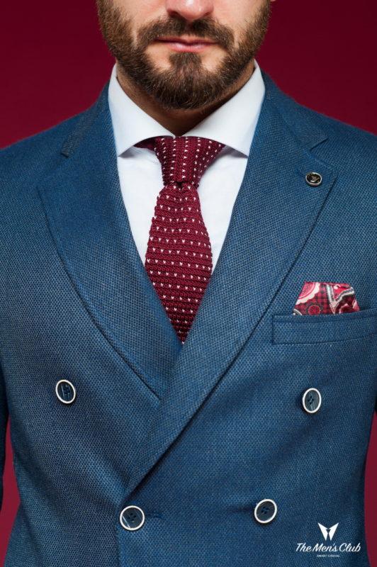 Двубортный пиджак темно-синего цвета. Арт.:2-459-7