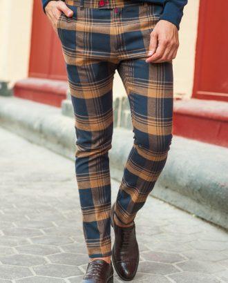 Мужские брюки чинос в клетку. Арт.:6-204-3