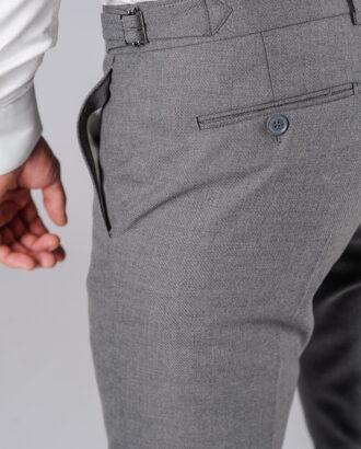Зауженные брюки темно-серого цвета