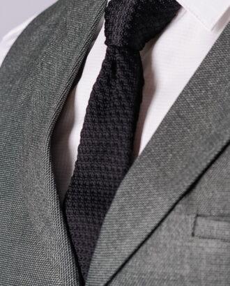 Узкий галстук черного цвета ti-004k