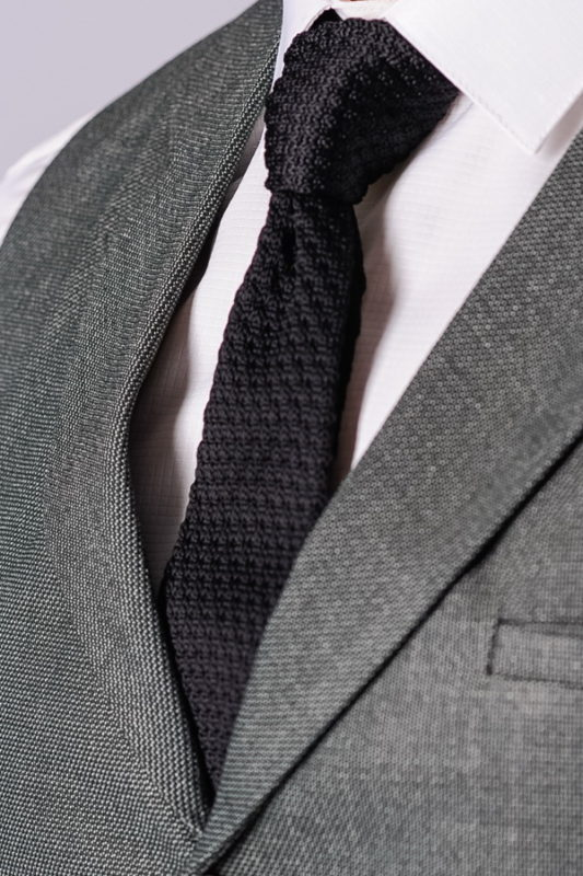 Узкий галстук черного цвета.Арт.:10-43