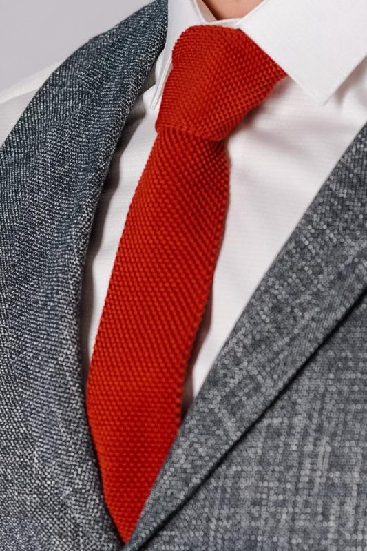 Фактурный галстук медного цвета. Арт.:10-41